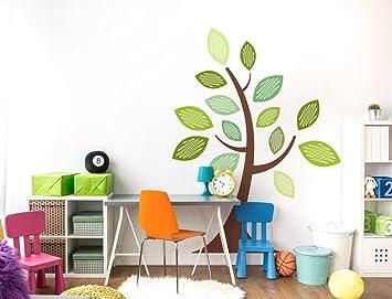 AuBergewohnlich I Love Wandtattoo WAS 11908 Kinderzimmer Wandsticker U0026quot;Baum In Braun Mit