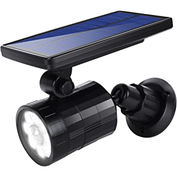 Amazon Com Solar Motion Sensor Light Outdoor Aluminum