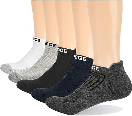 5 Pairs Mens Anti Blister Breathable Cotton Cushion Crew Performance Walking Athletic Sports Socks YUEDGE Mens Work Socks