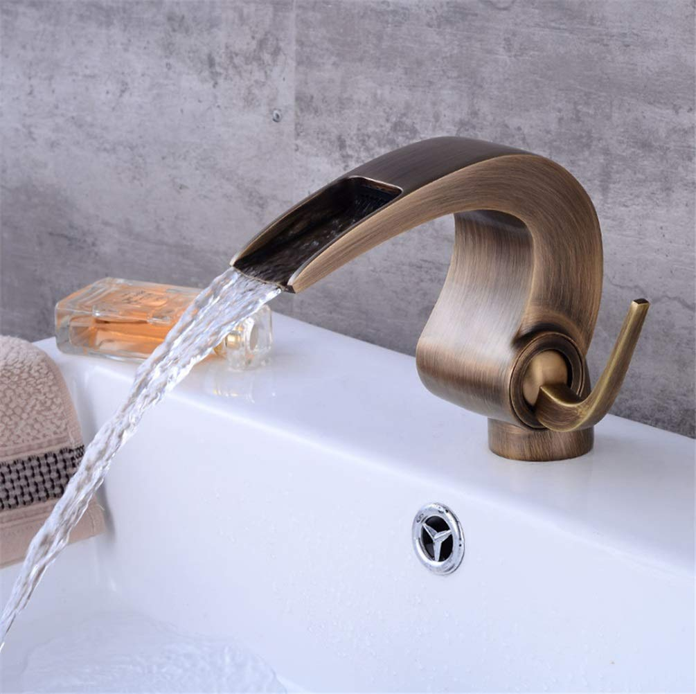 Basin Taps European Faucet Waterfall Faucet Basin Hot and Cold Faucet Bathroom Under Counter Basin Faucet Antique Faucet
