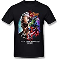 Awesome Shirt MD21 Stan-Lee - Playera para Hombre, Color Negro, Negro, Large