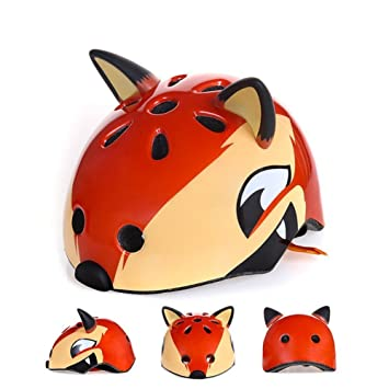 Asdomo Casco de seguridad multideportivo 3D, bonito diseño de animales, con dibujos animados,