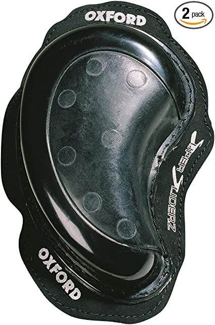 pair Oxford motorcycle Skull Knee sliders White