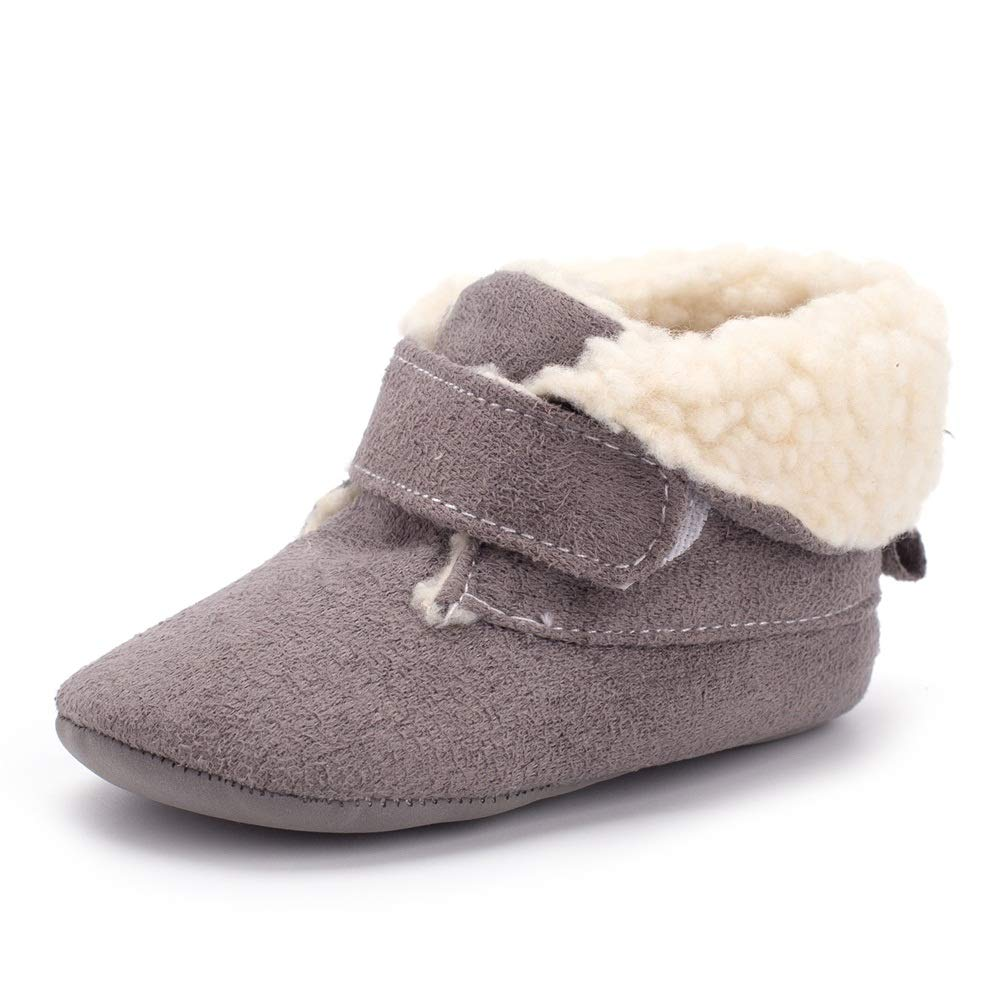 Enteer Infant Unisex-Baby Crib Shoes Soft Sole Prewalker Warm Snow Boots 2018100601