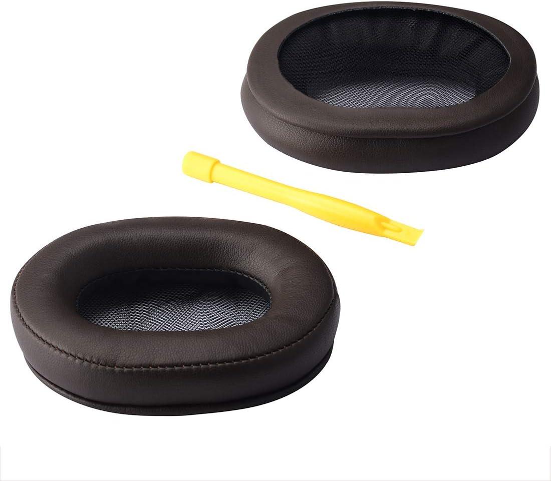 negro//anillo de pl/ástico almohadillas de repuesto para auriculares con clip de anillo//almohadillas para la oreja Geekria Almohadilla de repuesto para auriculares Sony WH1000XM2