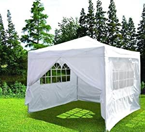 Quictent 10'x10' White Heavy Duty Pop Up Party Wedding Canopy Tent Gazebo 100% Waterproof