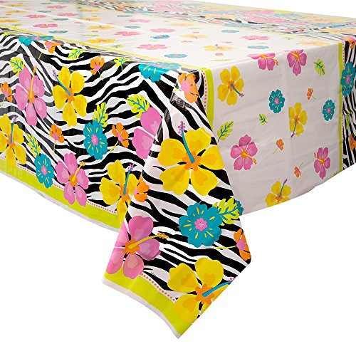 Wild Luau Plastic Tablecloth, 84