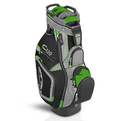amazon com sun mountain c 130 cart golf bag gray black lime