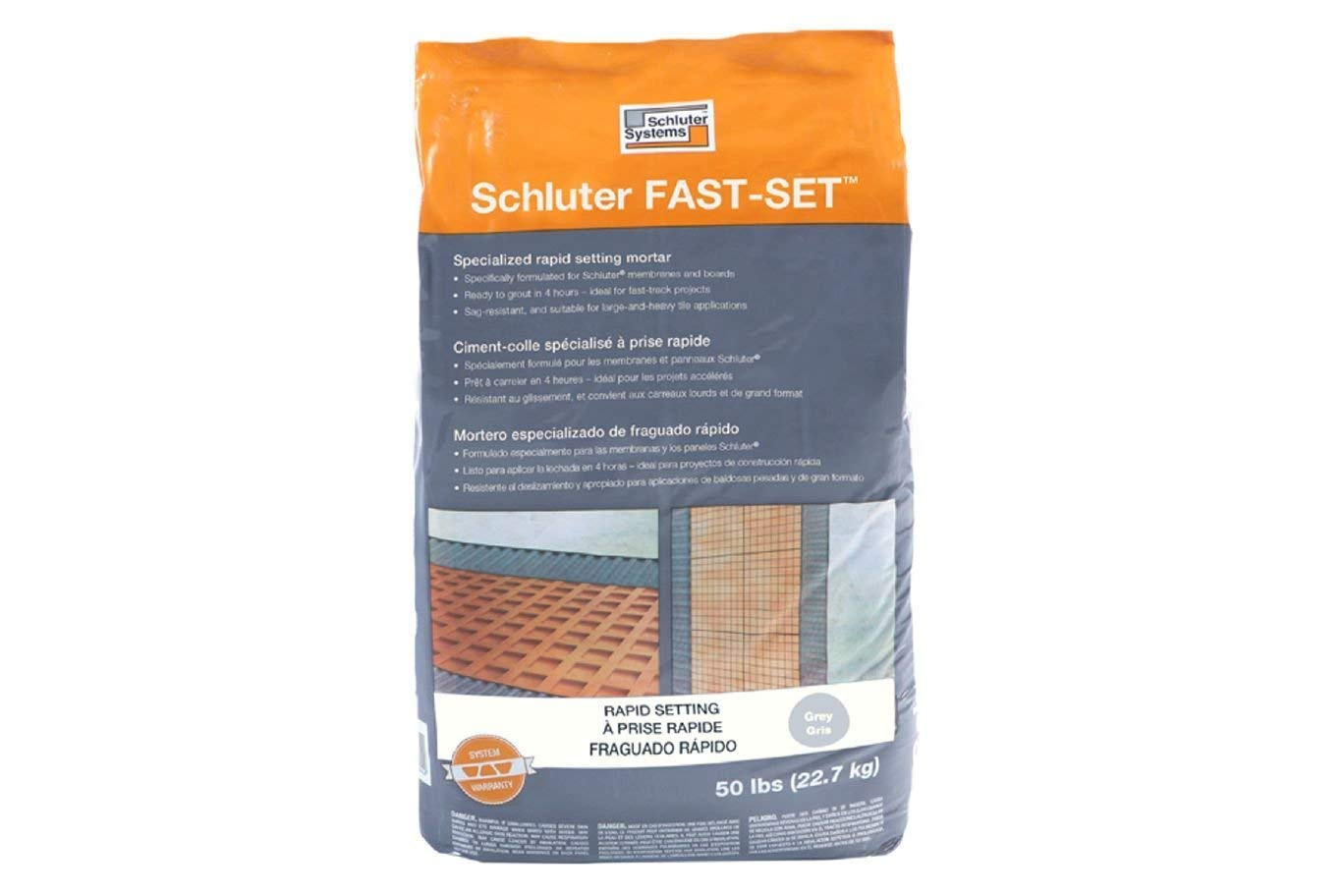 Schluter Systems Fast-Set Modified Thin-Set Mortar - Grey