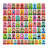 Animal Crossing New Horizons NFC Tag Mini Game Rare Character Villager Cards 72pcs for Switch/Switch Lite/Wii U with Crystal Storage Box