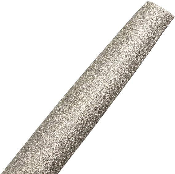 Stein Diamantbeschichtete Feile mit Kunststoffgriff zum Schleifen auf Glas Stein Marmor Knochen 20,3 cm,Round File