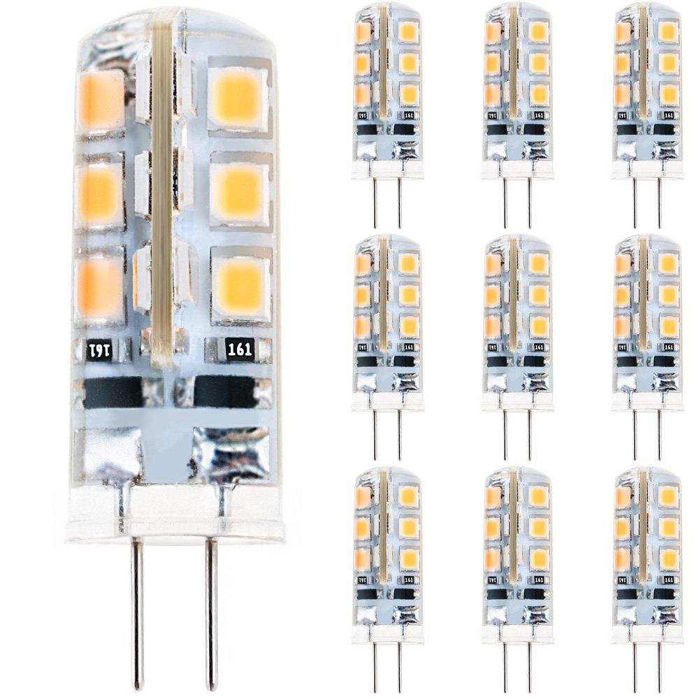 Anpro 10 Stück Glühbirne 3 Watt DC 12V G4 24 LED Lampe, 2835 SMD LED ...