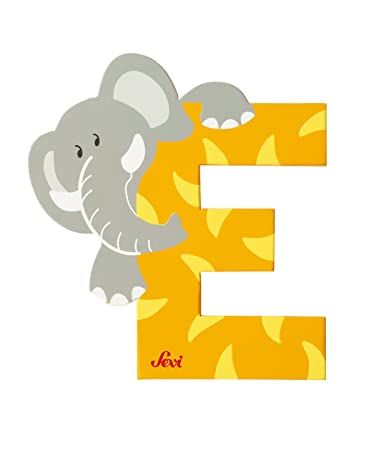 Amazon.com: SEVI 1831   Graffiti Animals   Letter E Elephant