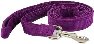 product image for The Good Dog Company Hemp Corduroy Leash - 6 ft (3/4 Inch Width, Plum)