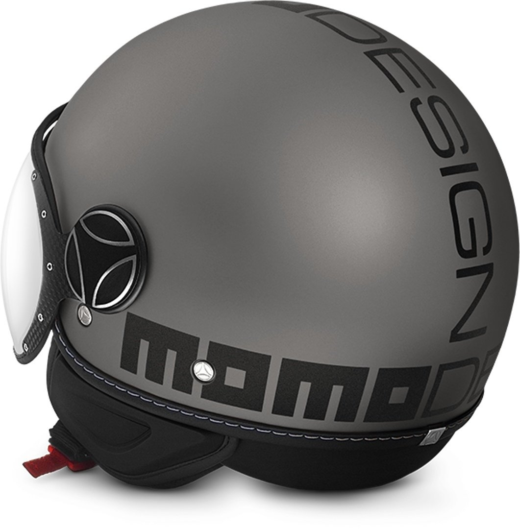 Casque Jet Momo Fighter FGTR Evo Mat Titane Double VISI/ÈRE Taille ML