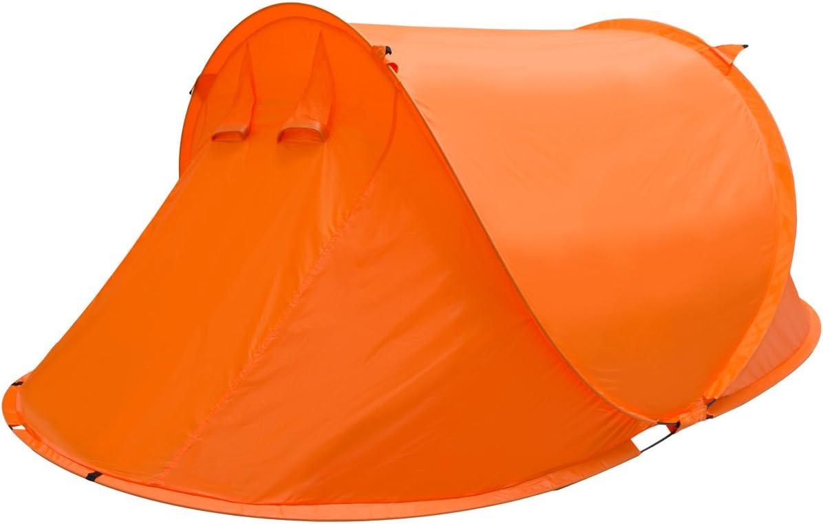 EYEPOWER Tienda de Campa/ña igl/ú 245x145x100cm 2 Personas instant/ánea autom/ática para Campamento Festival Incl Accesorios Bolsa de Transporte Naranja