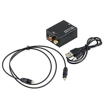 fenguh Digital Coaxial óptica Toslink Señal Analógica(RCA) Audio Converter Adaptador Conversor de Audio