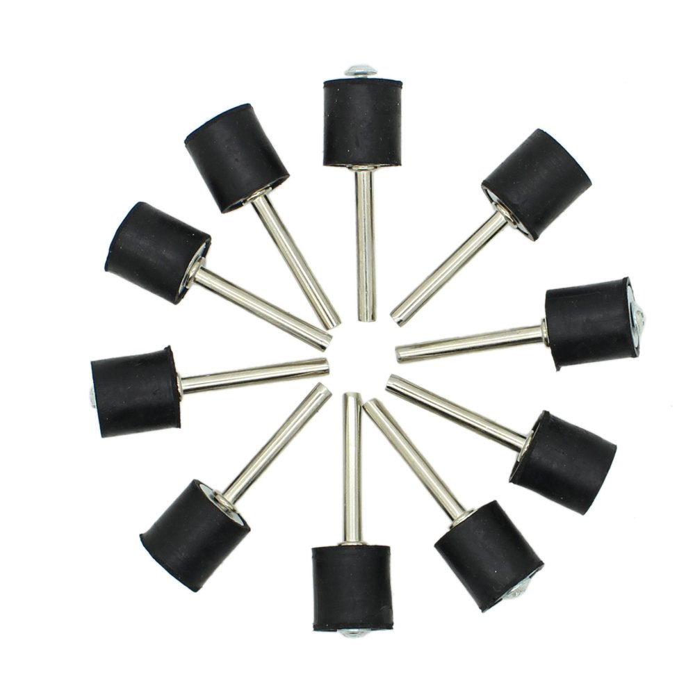 AUTOTOOLHOME 10pc 1/2' Drum Rubber Mandrels 1/8' Shank for Sanding Sander Fit Dremel JYC International Trade Co. Ltd.