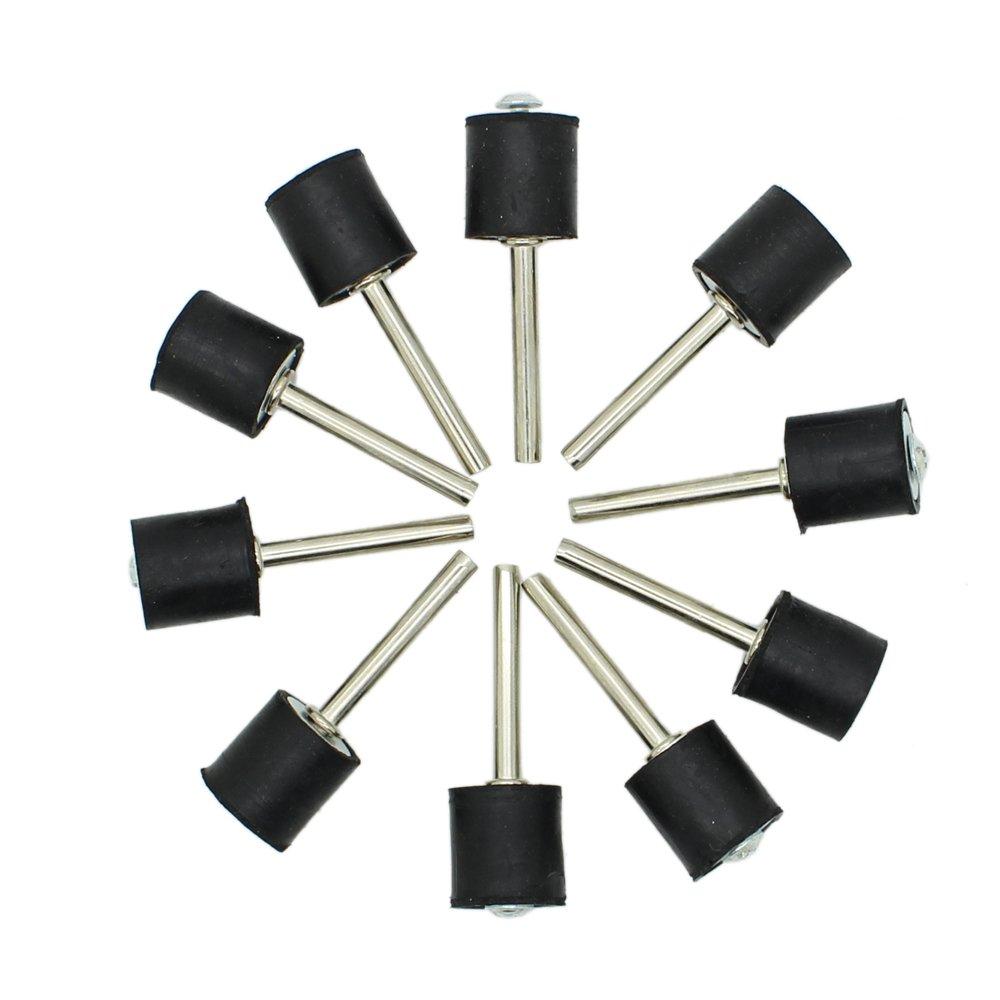 AUTOTOOLHOME 10pc 1/2' Drum Rubber Mandrels 1/8' Shank for Sanding Sander Fit Dremel JYC International Trade Co. Ltd.