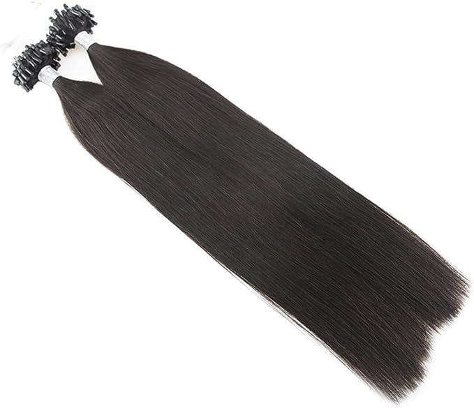 Moresoo - Extensiones de cabello 100 Remy Microring: Amazon.es ...