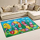 My Little Nest Kids Children Snake Numbers Board Game Area Rug Baby Boys Girls Playmat Non Slip Soft Educational Fun Carpets for Bedroom Classroom Nursery 3'3'' x 5'