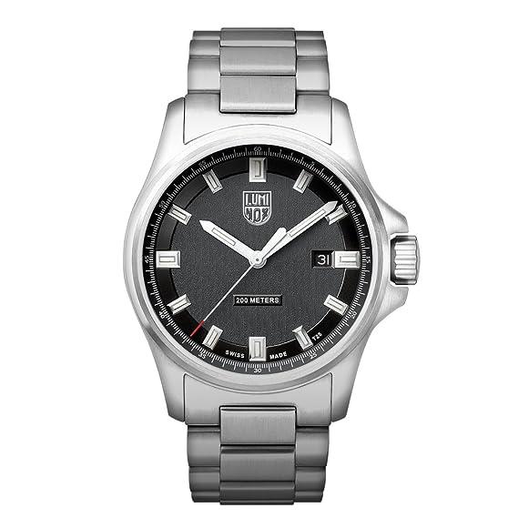 Luminox Dress Field XL.1832 Reloj de pulsera Cuarzo Hombre correa de Acero inoxidable Plateado: Amazon.es: Relojes