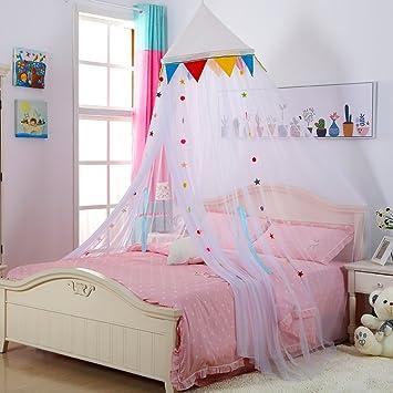 Bunte Kinder Zimmer Decke Typ Prinzessin Moskitonetz Kuppel Boden