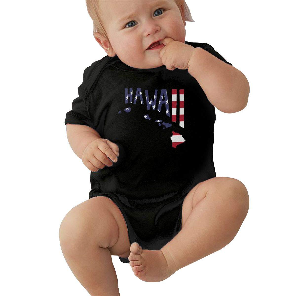 Newborn Baby Girl Boy Hawaiian Islands USA Flag1 Bodysuit Romper Jumpsuit Short Sleeved Bodysuit Tops Clothes