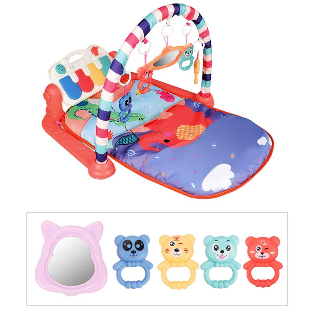 3 en 1 Gimnasio Infantil Bebe con M/úsica y Luces Manta de Juego para Beb/é 76 x 60 x 45cm Yavso Gimnasio Piano Pataditas