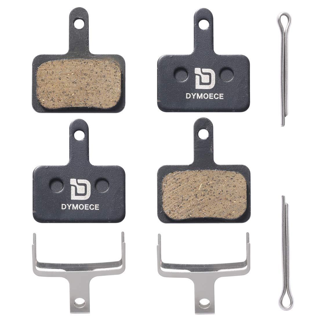 Dymoece 2 Pairs Bicycle Resin Organic Disc Brake Pads for Shimano Deore Tektro TRP by Dymoece