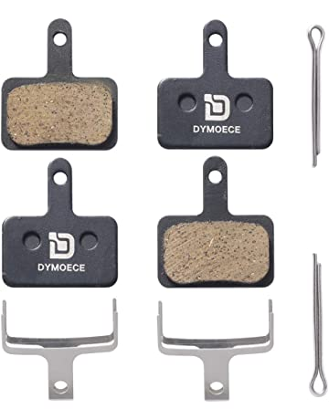 Dymoece 2 Pairs Bicycle Disc Brake Pads for Shimano Deore Tektro TRP(Resin,Semi