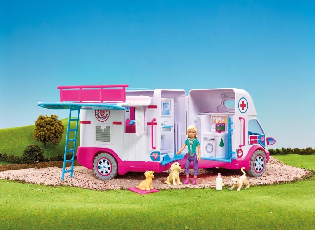 animagic rescue hospital figurine animal clinique ambulance jeux. Black Bedroom Furniture Sets. Home Design Ideas