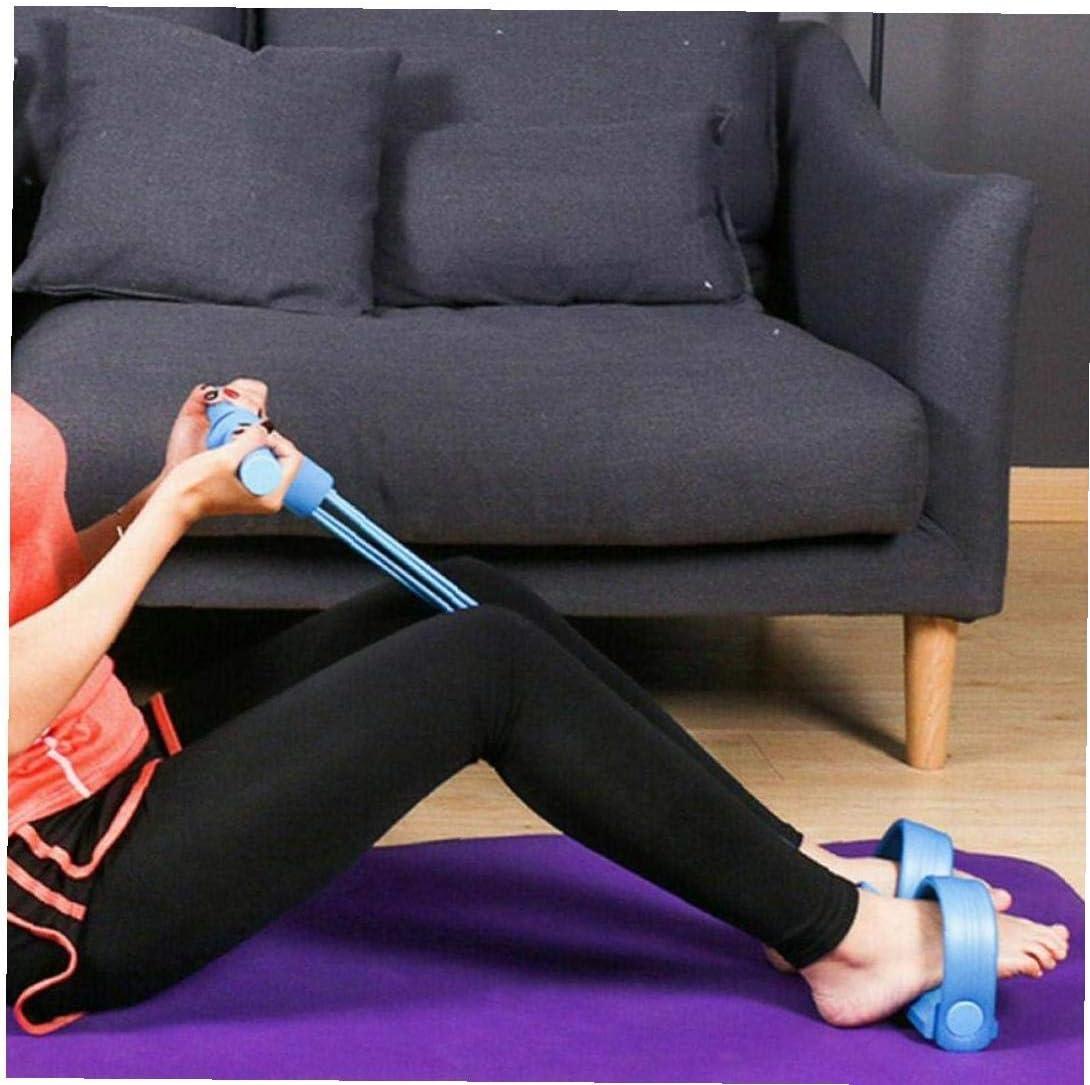 BYFRI Casa Office Multi-Funzione 4-Tube Pedale Tensione della Fune del Piede la Resistenza alla trazione Fitness Ente di Formazione Strumento di Costruzione Colore Casuale