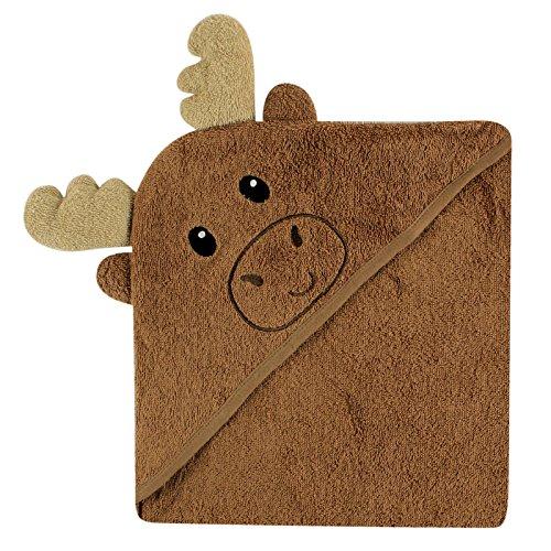 Luvable Friends Animal Face Hooded Towel, Moose