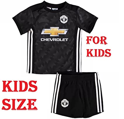 official photos acbed 2b980 Shamyaan Manchester United Away Jersey kit for Kids - Black - Youth Sizes  for Boys & Girls - New Latest Season 2017 - 2018 Man Utd Premier League -  ...