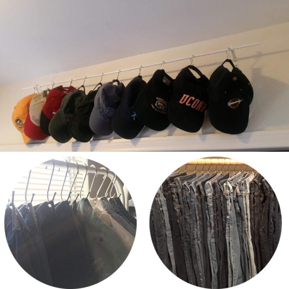 20 Pack Shower Curtain Hooks Hangers Hooks for Hanging,Hooks for Hanging Coats S Hooks for Hanging Pots and Pans Hooks for Hanging Coats Hooks for Hanging Towels,Christmas Lights