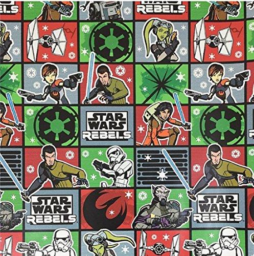 New Disney Star Wars 2 Rolls Variety Rebels & Storm Trooper Wrapping Paper (Bundle 2)