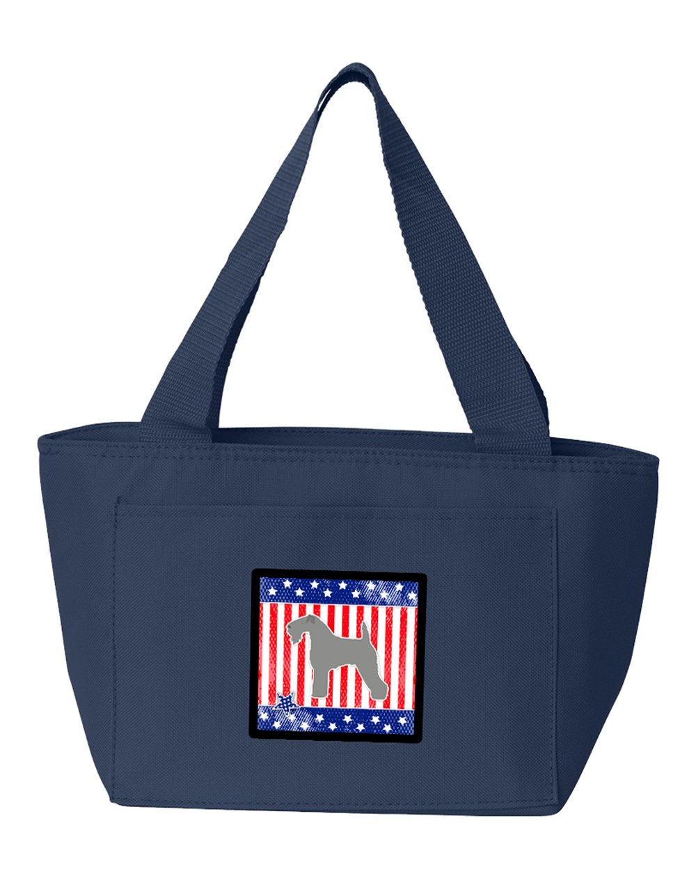 Caroline's Treasures BB3292NA-8808 USA Patriotic Kerry Blue Terrier Insulated Lunch Bag, Large, Multicolor   B071HX9NJP