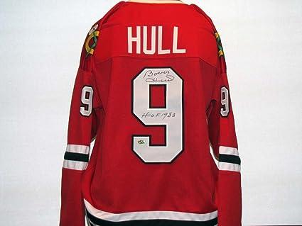 e14062c22 Bobby Hull Autographed Signed Blackhawks Jersey at Amazon's Sports ...