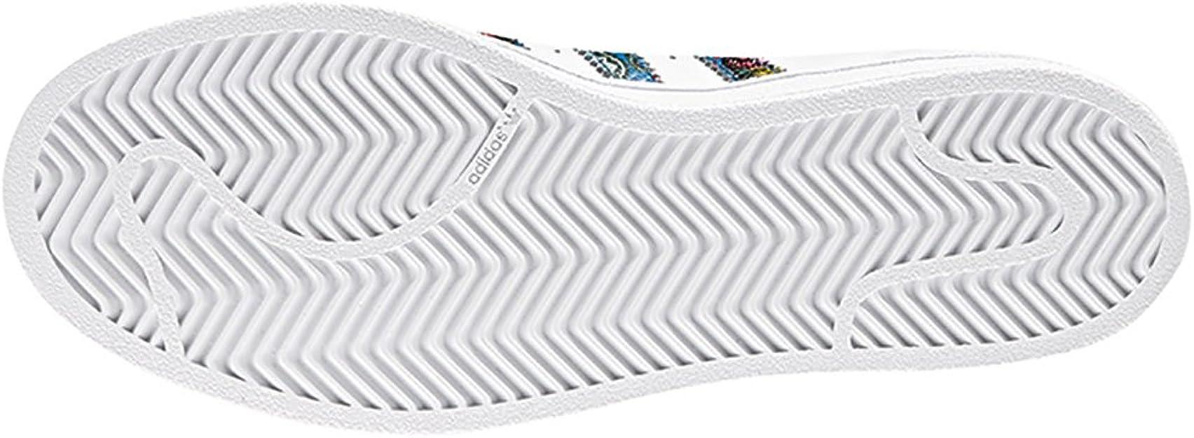 adidas Superstar, Sneakers Basses Femme, Multicolore Ftwbla