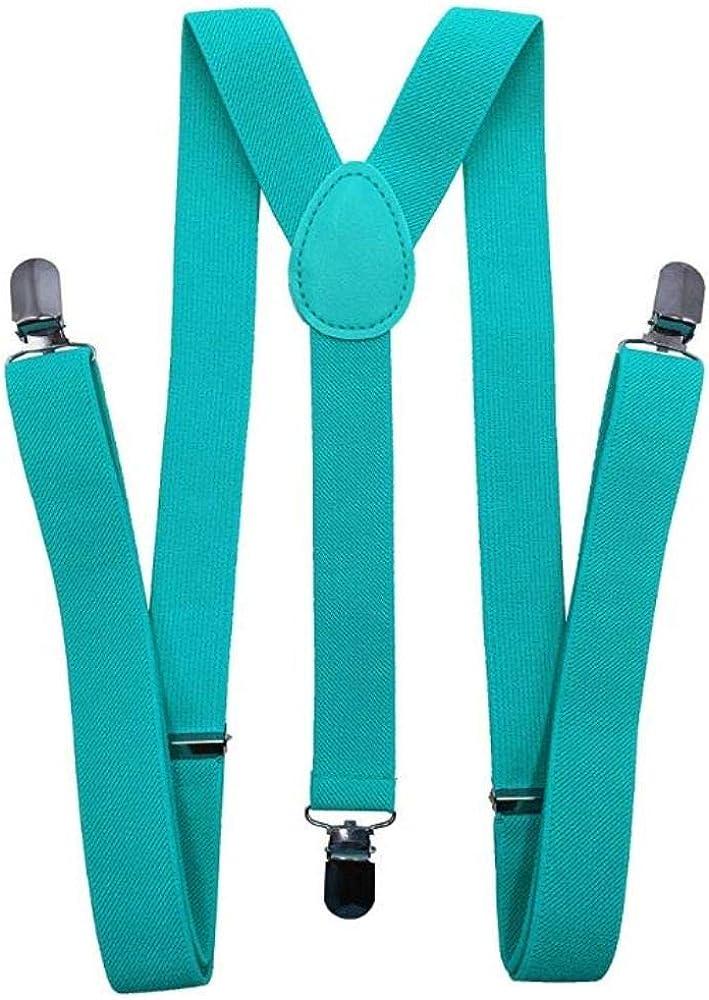 Bow Tie /& Suspenders SET  Dark Mint Turquoise Bow Tie  Dark Mint Suspenders  Kids Mens Baby Wedding Page Boy Set 6 mo Adult Set