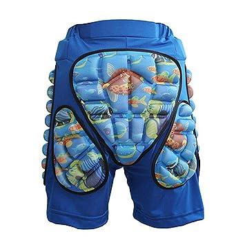 IrahdBowen Pantalones Cortos de esquí de protección Patinaje Sobre Tabla de Snowboard: Pantalones de Hockey
