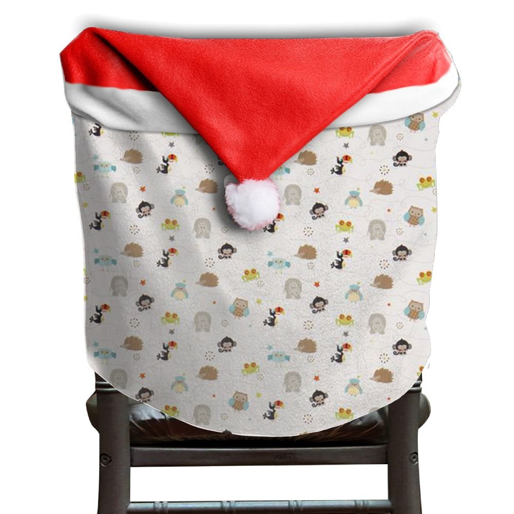 Hedgehog Animals Christmas Chair Covers Great Red Hang Around Chair For Husbands Armless Chair Slipcover Holiday Festive