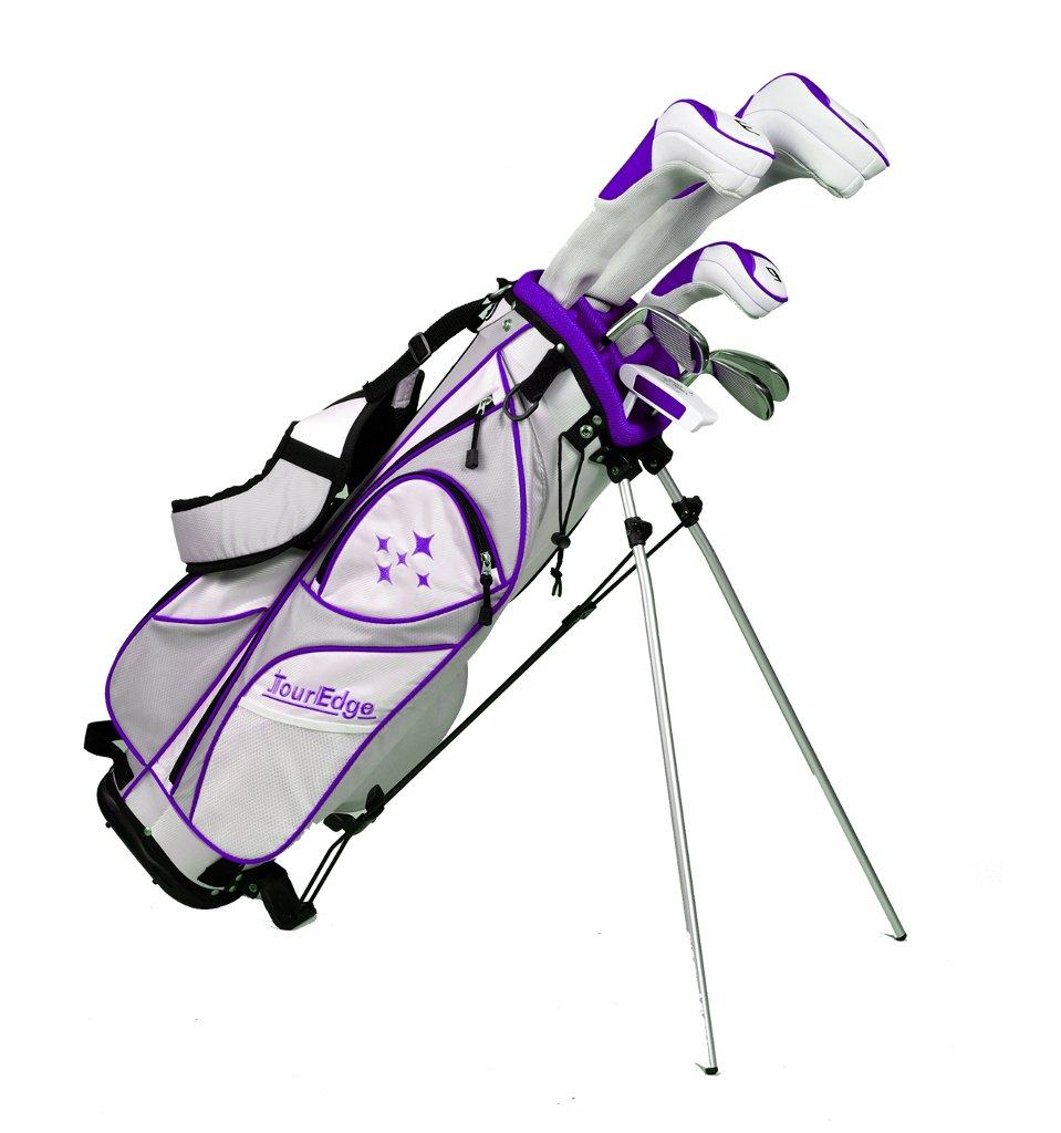 Tour Edge LUSRGL07.BP Women's 2014 Lady Edge Golf Starter Set, Ladies Flex, Right Hand, Graphite, Plum by Tour Edge (Image #1)