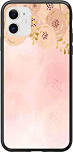 Okteq Case for iPhone 11 Case Shock Absorbing PC TPU Full Body Drop Protection Cover matte printed - pink watercolor By Okteq