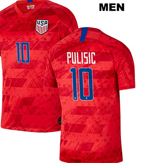 best website 6292a 27f3f LISIMKE Soccer Team USA National Away Christian Pulisic#10 ...