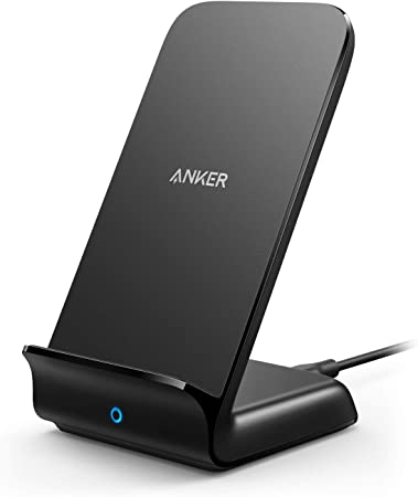 Anker PowerWave 7.5 Stand, Qi ワイヤレス充電器 iPhone 11 / 11 Pro / 11 Pro Max / XS / XS Max / XR / X / 8 / 8 Plus / Samsung Galaxy / LG 対応 アンカー 置くだけ充電 ブラック