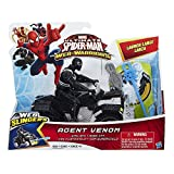 Marvel Ultimate Spider-Man Web Warriors Agent Venom Figure with Quadracer Vehicle