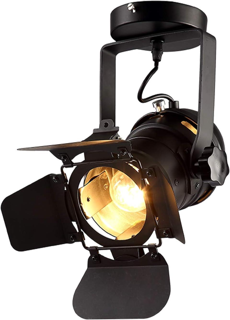 Hobaca E26 L31 W17 H35cm Loft Vintage Industrial Iron Mount Spotlight Track Lighting Ceiling Shop Light Fixtures LED Pendant Lights Ceiling Lights for Home Lighting