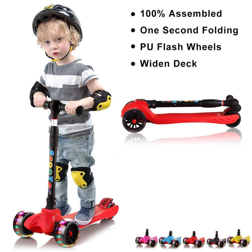 Amazon.com: 67i Kick Scooter para niños 3 ruedas patinetes ...